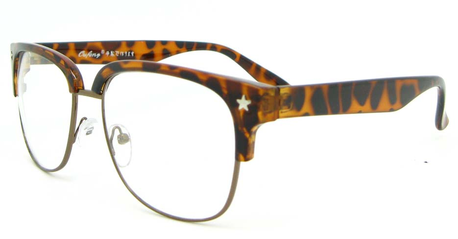 Tortoise retro blend Oval glasses frame WLH-OF1831-C2