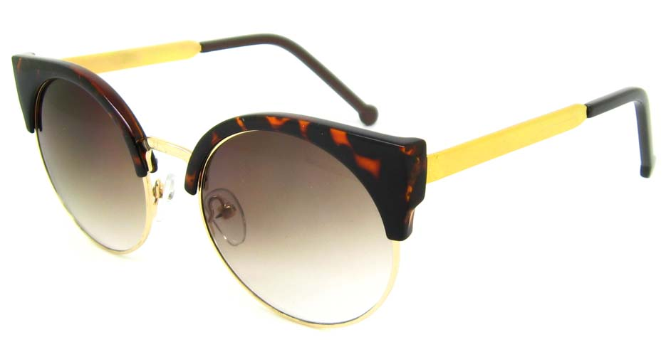 Tortoise with gold round blend retro frame YM-K52107-C3