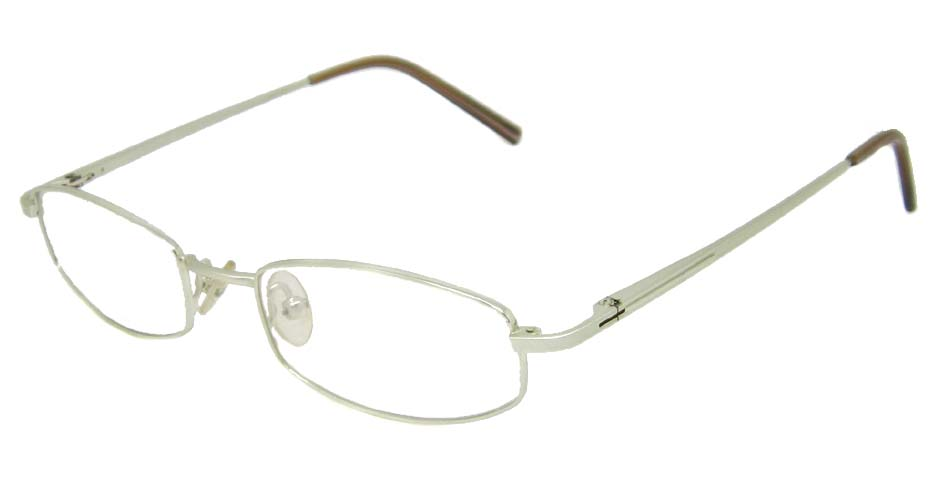 White  oval metal glasses frame   HL-C8109-C2