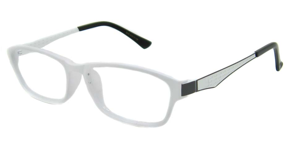 White with black oval  metal and TR frame WKY-WL3019-BS