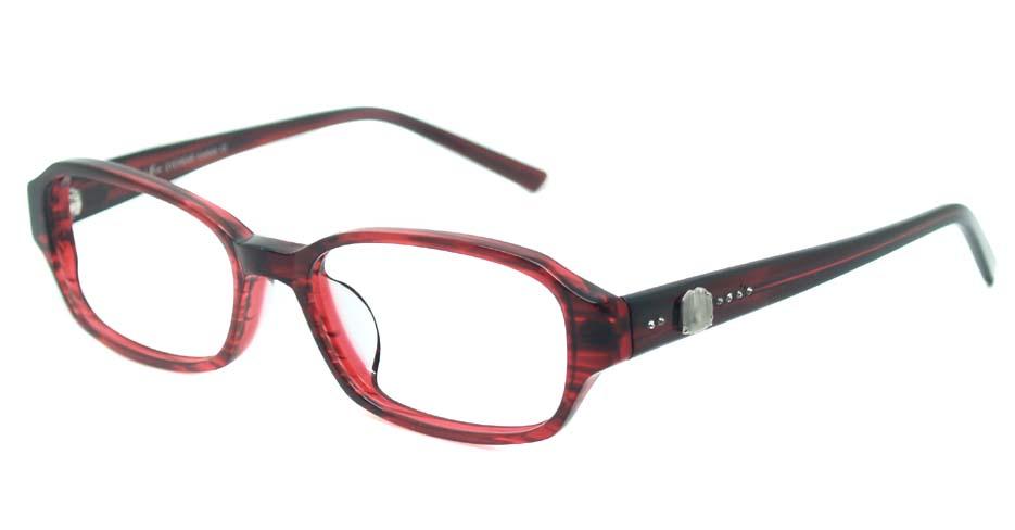 Wine acetate rectangular glasses frame HL-5536A