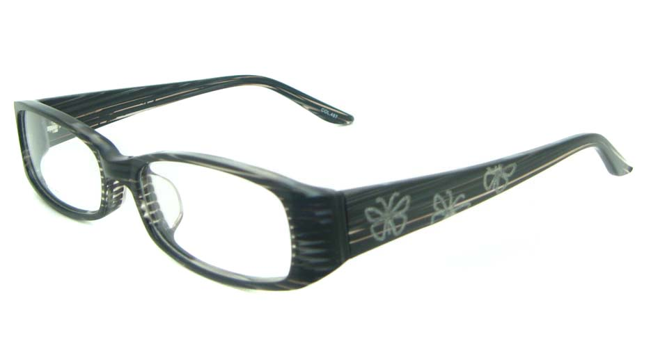 black  Rectangular  Plastic glasses frame YL-JB8288-C487
