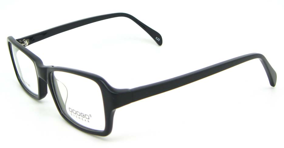 black Acetate Rectangular glasses frame WKY-BL6158-C33