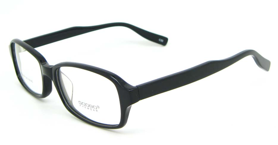 black Acetate rectangular glasses frame WKY-BL6169-C33