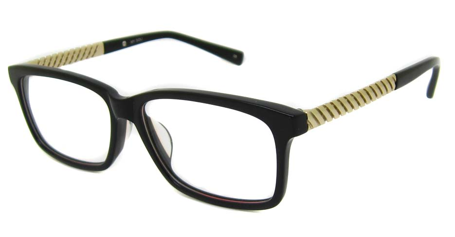black blend Rectangular  glasses frame TD-MDL2215-C6