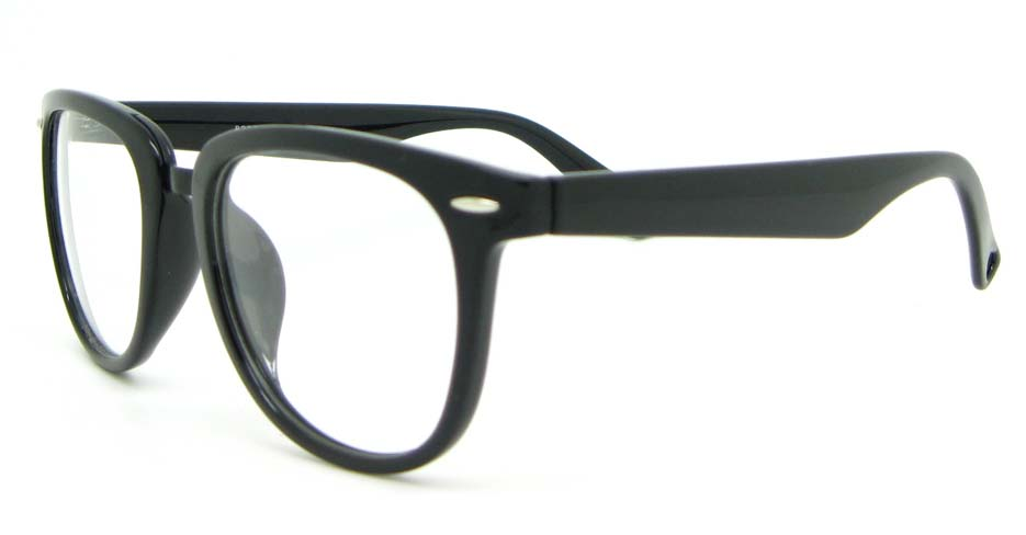 black blend oval glasses frame WLH-8332-C1