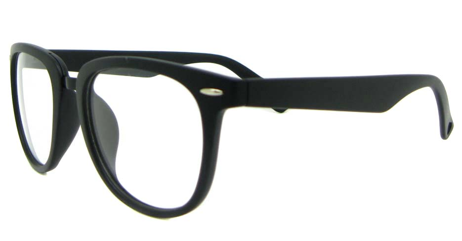 black blend oval glasses frame WLH-8332-C2