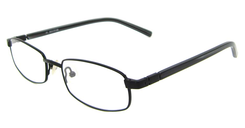 black blend rectangular glasses frame HL-AMA2946-002