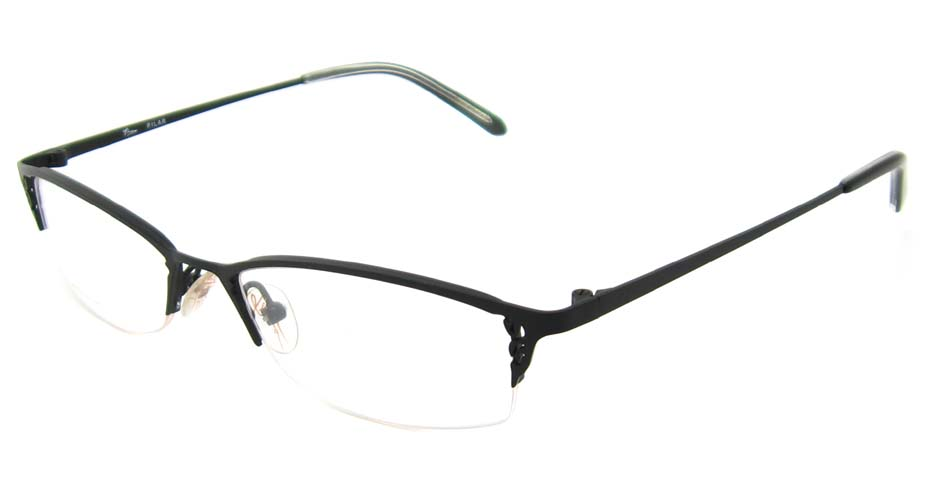 black cat eye metal glasses frame HL-PILAR