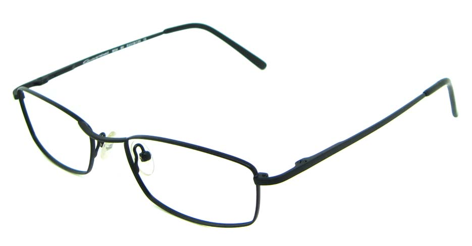 black metal oval glasses frame HL-M3460