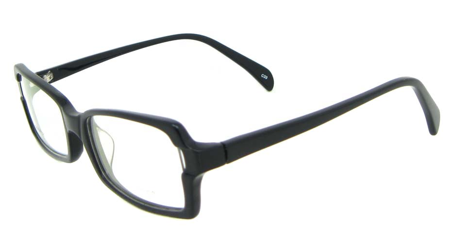 black oval Acetate glasses frame WKY-BL6184-C33