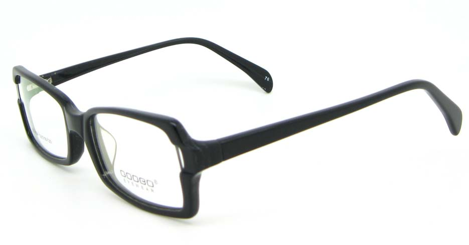 black oval Acetate glasses frame WKY-BL6184-C76