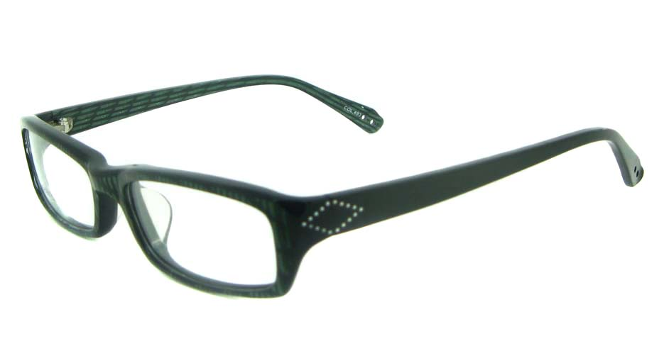 black plastic Rectangularglasses frame YL-JB8290-C493