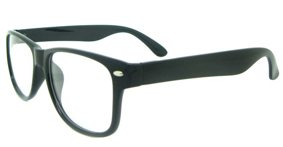 black plastic oval glasses frame YL-KLD8081-C1