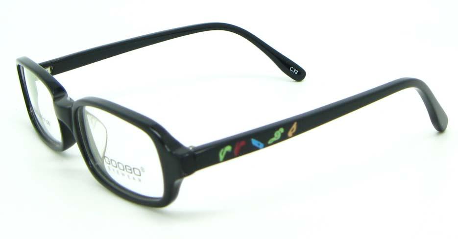 black plastic rectangular glasses frame JNY-BL6239-C33