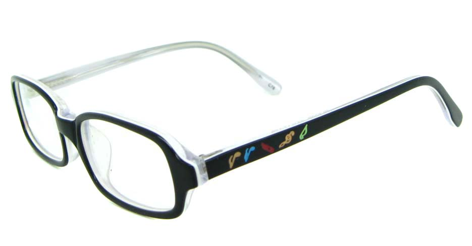 black plastic rectangular glasses frame JNY-BL6239-C78