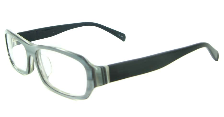 black plastic rectangular glasses frame YL-RB8319-C548