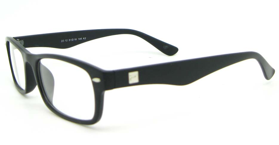 black retro plastic oval glasses frame WLH-2212-K2