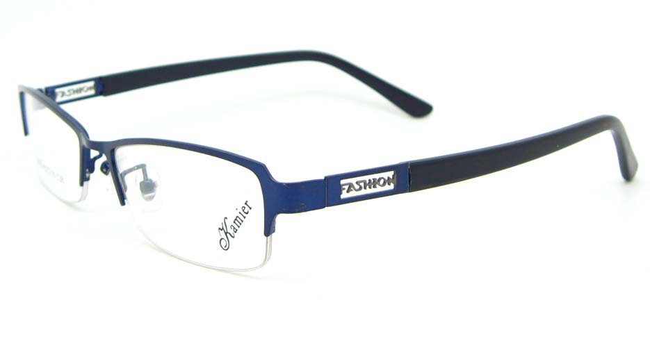 black with blue blend Rectangular glasses frame WKY-KM22122-HLS