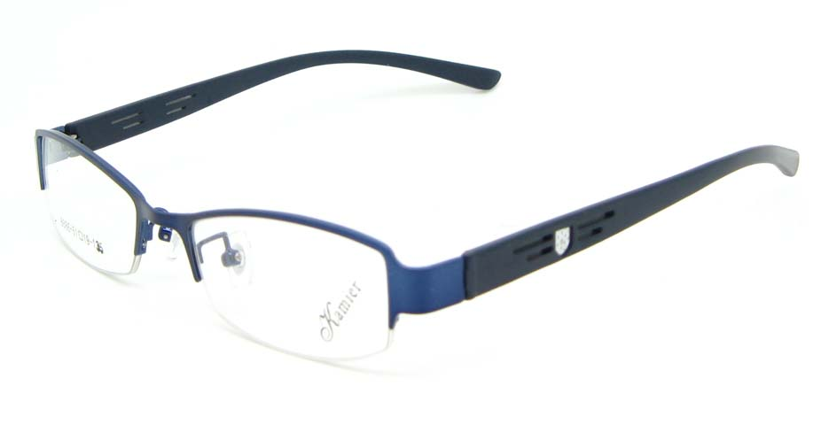 black with blue blend Rectangular glasses frame WKY-KM8886-L