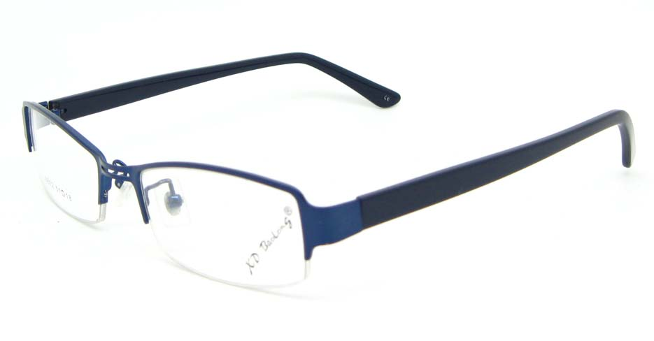 black with blue blend rectangular glasses frame  WKY-XDBL6812-L