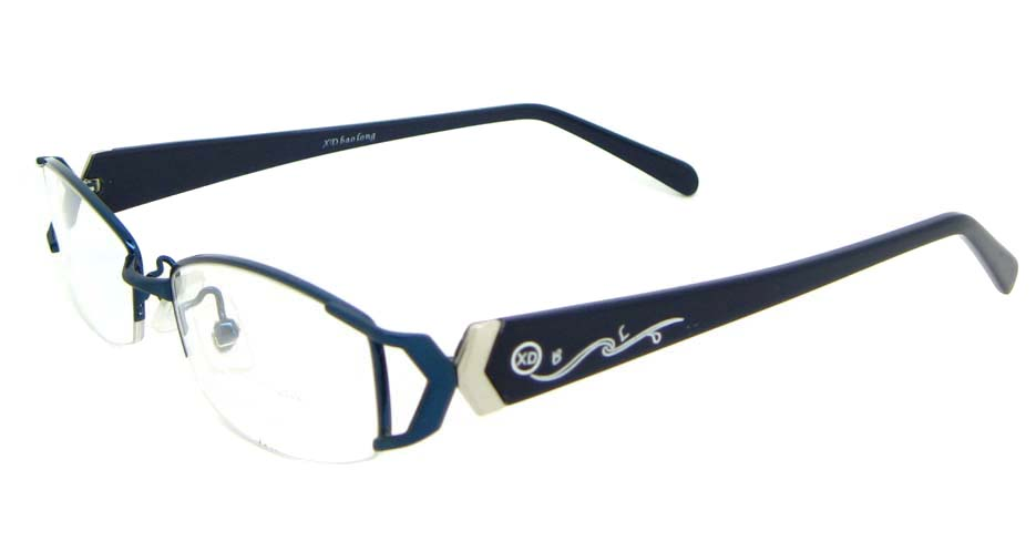 black with blue blend rectangular glasses frame WKY-XDBL6867-L