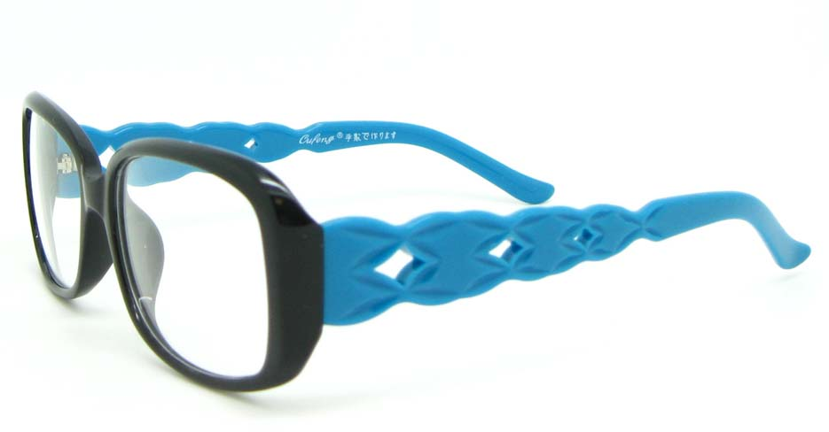 black with blue plastic over  glasses frame WLH-7105-C8