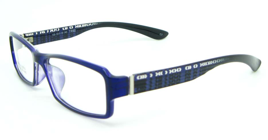 black with blue tr90 Rectangular glasses frame JNY-MJN159-C3