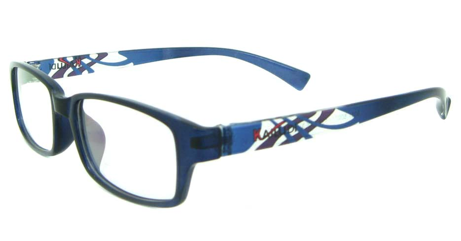 black with blue tr90 Rectangular glasses frame YL-KDL8031-C3