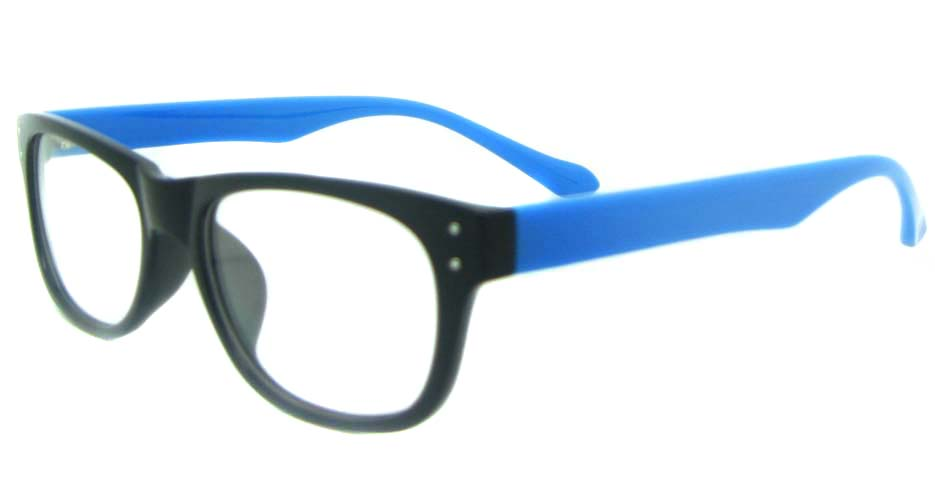 black with blue tr90 oval glasses frame YL-KDL8051-C4