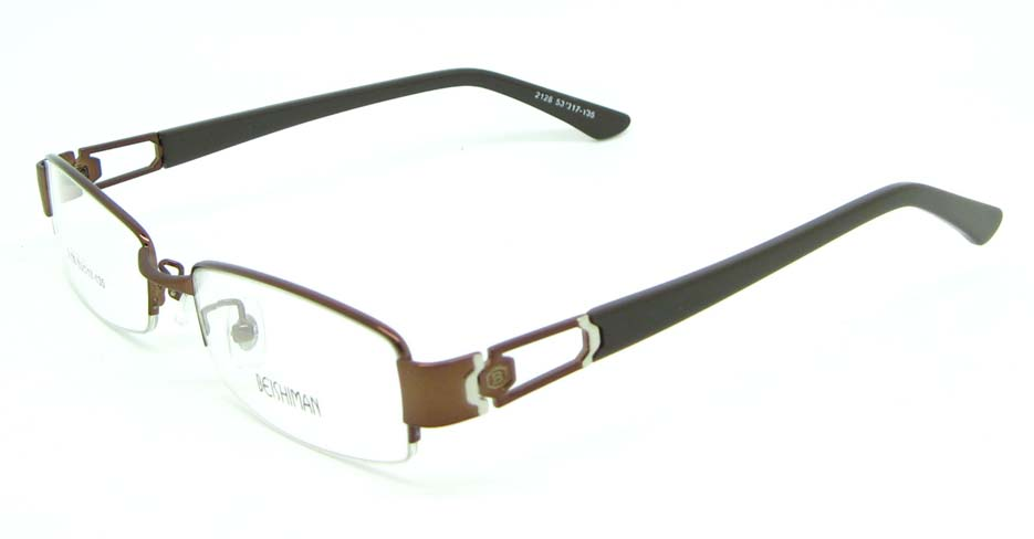 black with brown blend Rectangular glasses frame JNY-BSM2118-Q