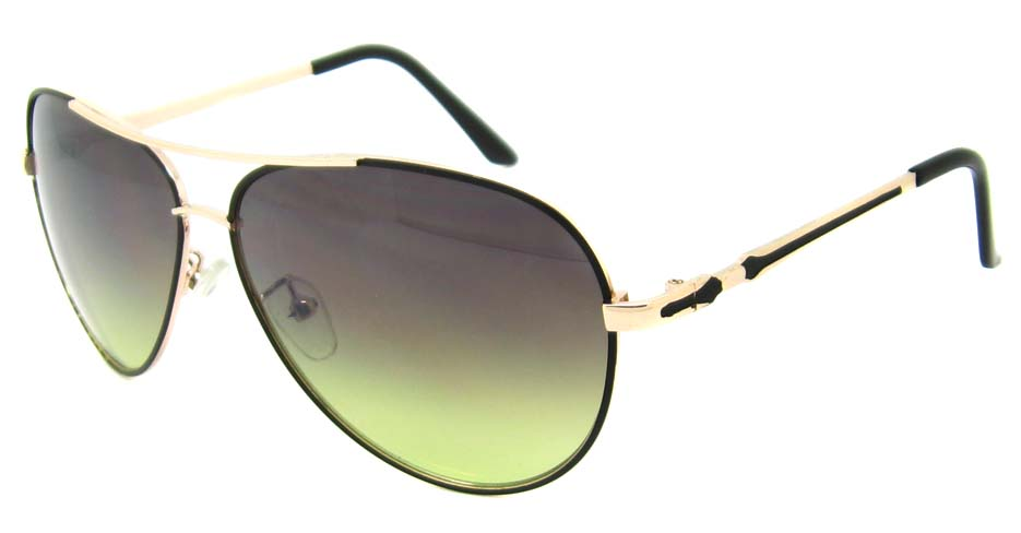 black with gold metal aviator glasses frame  YW-DH831-HJS