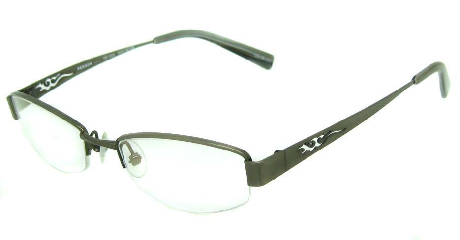 black with green acetate rectangular glasses frame   HL-5411-E