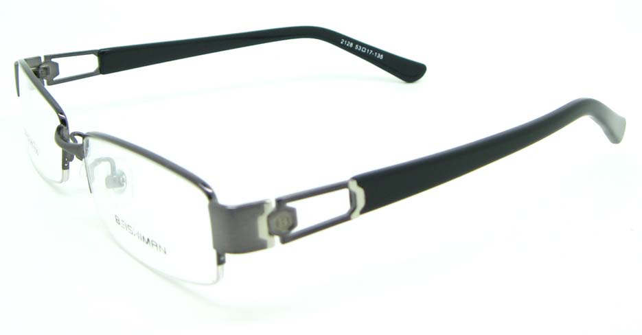black with grey blend Rectangular glasses frame JNY-BSM2118-Q