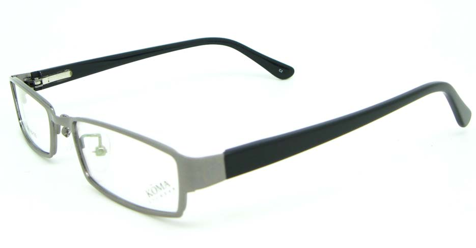 black with grey blend Rectangular glasses frame JNY-KM1603-C2