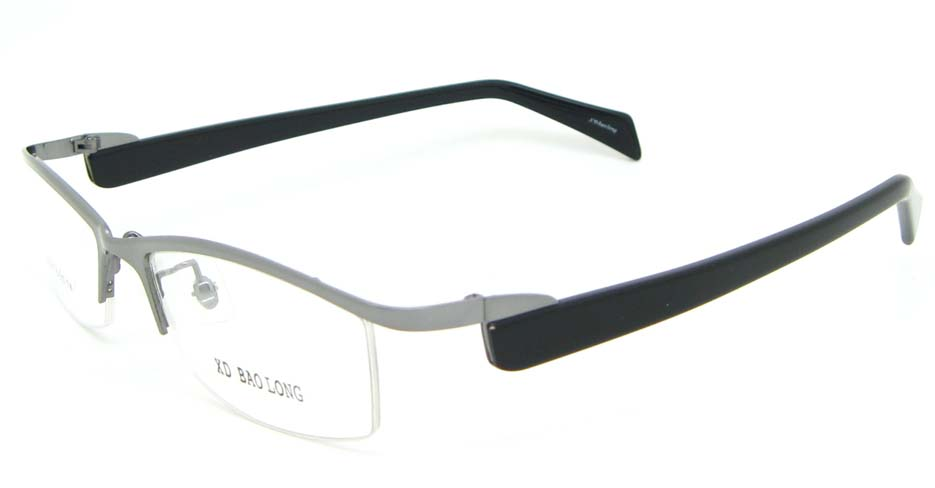 black with grey blend Rectangular glasses frame WKY-XDBL2321-Q