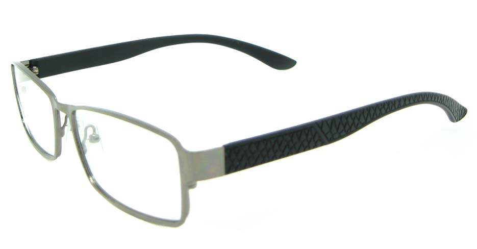 black with gun rectangle Metal glasses frame JNY-HYL7620-Q