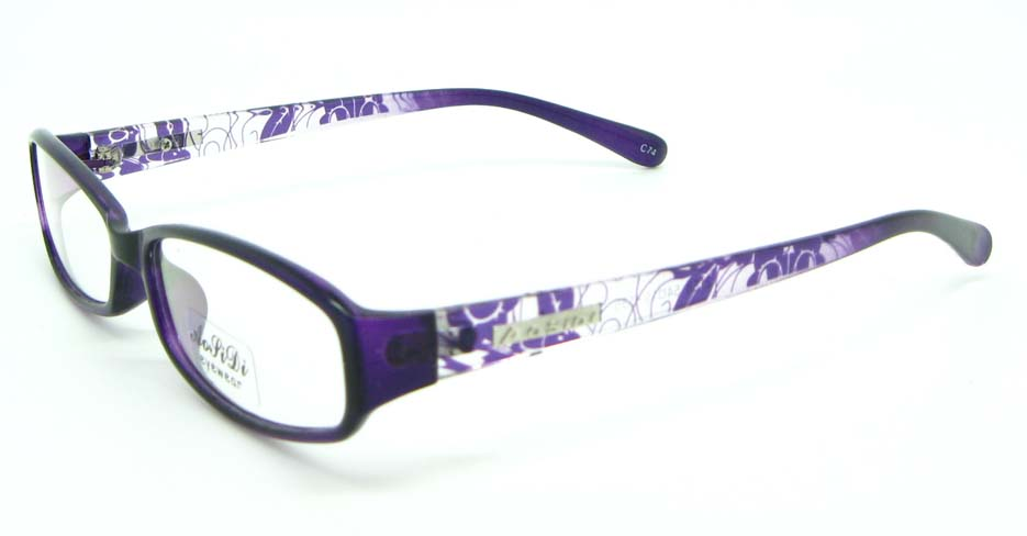 black with purple tr90 Rectangular glasses frame JNY-ASD2158-C74