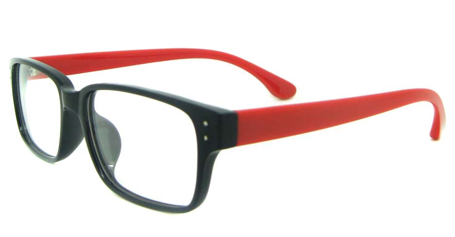black with red Rectangular tr90 glasses frame YL-KDL8036-C5