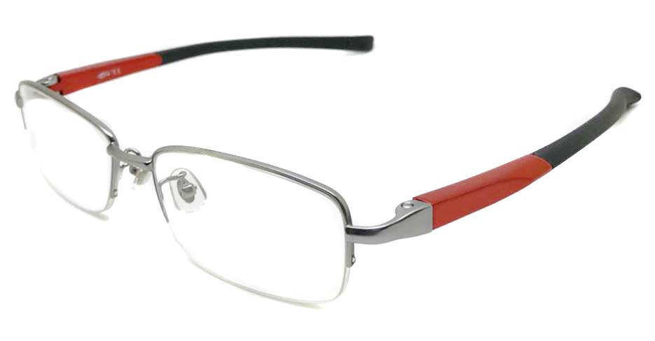 black with red blend sports Rectangular glasses frame LT-G076-C2