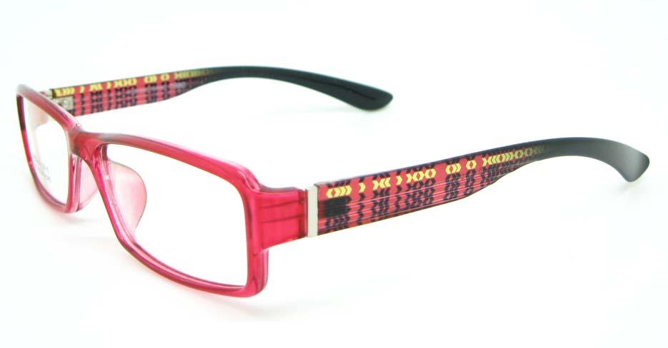 black with red tr90 Rectangular glasses frame JNY-MJN159-C13