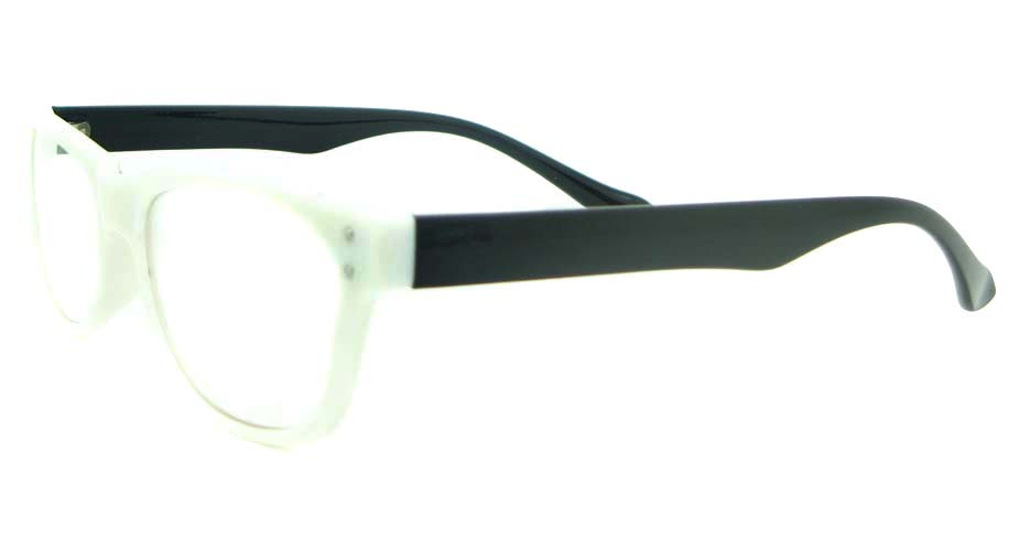 black with white tr90 oval glasses frame YL-KDL8051-C2