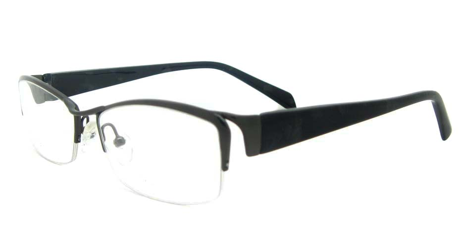 blend black Rectangular glasses half frame YL-WORD1341-C3