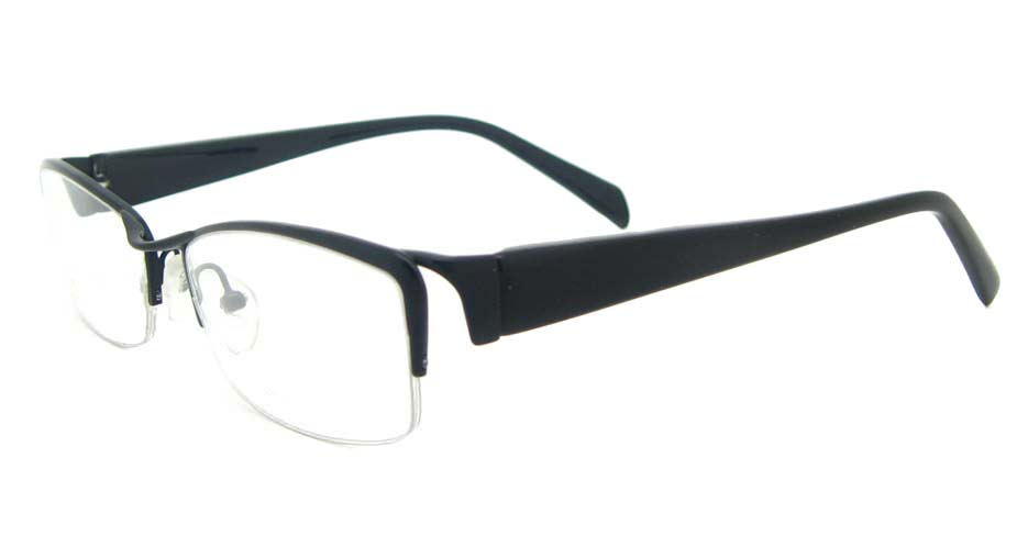blend black Rectangular glasses half frame YL-WORD1341-C4