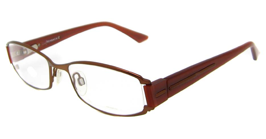 blend rectangle leisure brown glasses frame 902017-C60