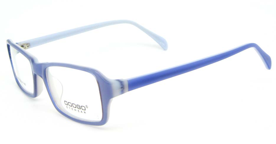 blue Acetate Rectangular glasses frame WKY-BL6158-C130