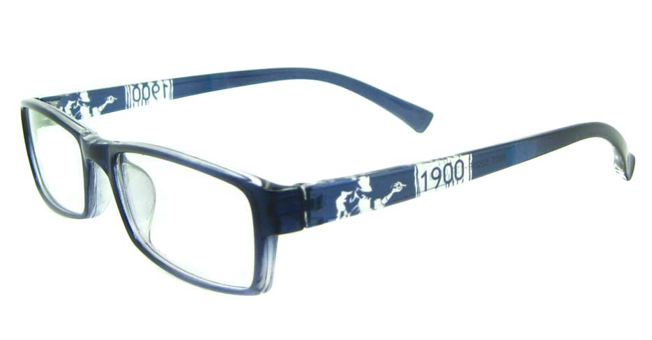 blue Rectangular tr90 glasses frame YL-KLD8001-C3