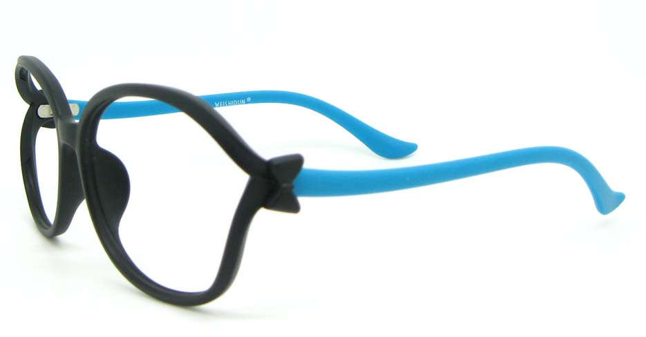 blue blend oval glasses frame HL-1014