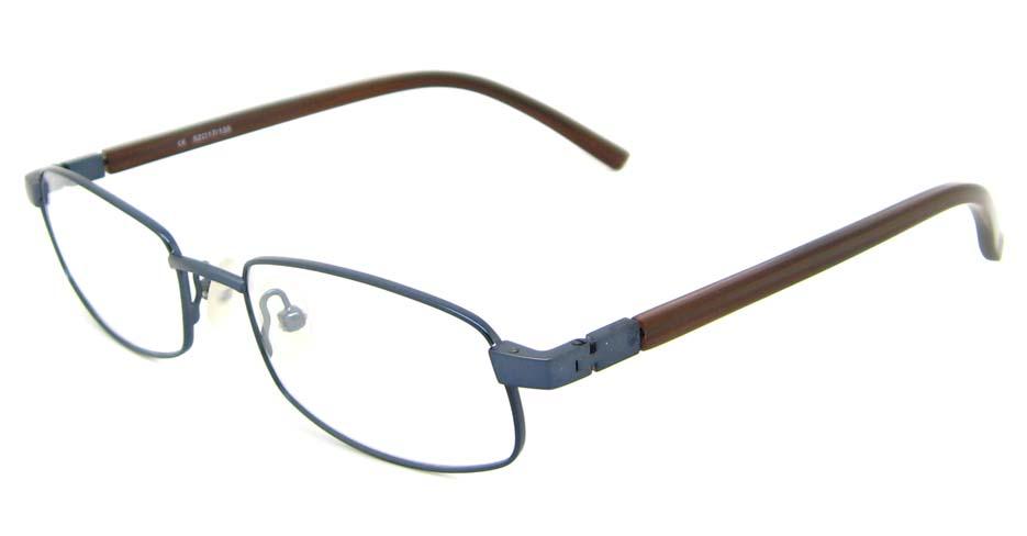 blue blend rectangular glasses frame HL-AMA2946-003