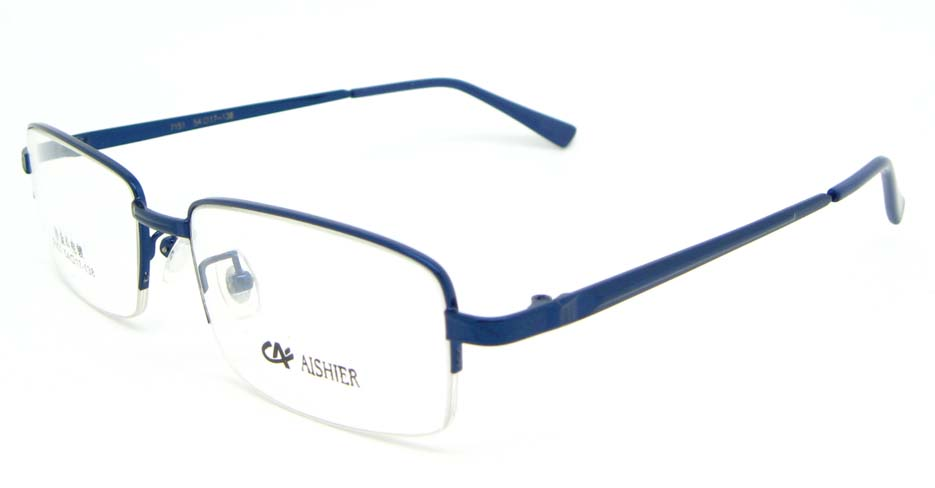 blue metal Rectangular glasses frame  WKY-ASR7151-L